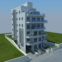 3d model buildings 1 4