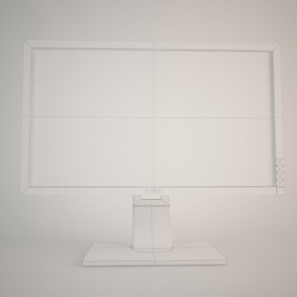 3d model dell - DELL LCD MONITOR... by radekchovancik