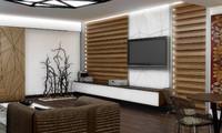 modern livingroom 3d model
