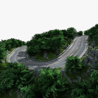 mountain road 3d max