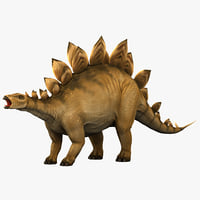 3d model stegosaurus prehistoric modeled