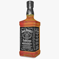 3ds max bottle whiskey jack daniels