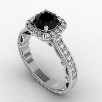 Beaded Diamond Ring