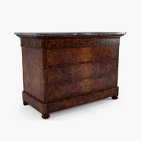 louis commode 3d model