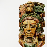 3d aztec figure replica