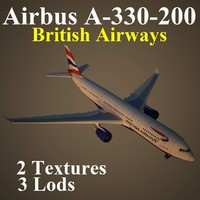 3d airbus british airways baw