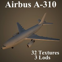 airbus a-310 airlines 3d model
