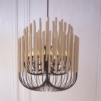 woodstick chandelier gia collectione 3d model
