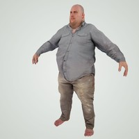 3d model ready large guy