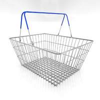 Shopping Basket Full 3D