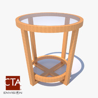 wood end table max
