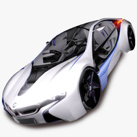 3d model bmw efficient dynamics car