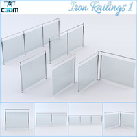 3ds max iron railing 1