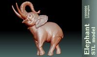 3d model stl elephant