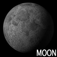 3d moon luna model