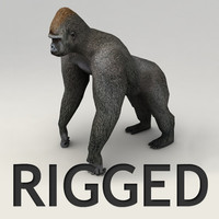 gorilla rigged biped 3d max