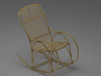 3d classic rocking chair model
