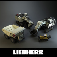 3d liebherr mining vehicles