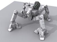 combat walker tank 3d max