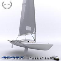 dinghy sport 3d model