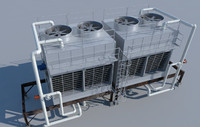 3ds max rooftop cooling tower