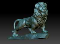 lion sculpture 3d model