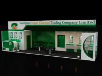 3d exhibition stall model