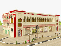 3d building architectural islamic