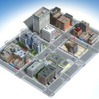 city set 02 3d model