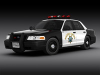 crown victoria car 3d max