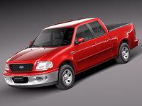 3d model v8 1997 pickup cab