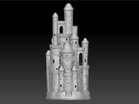 scan smoking castle 3d model