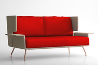 3d model knoll lounge sofa