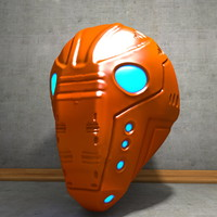 c4d cyborg helm helmet