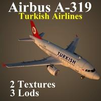 3d model airbus thy