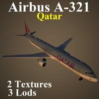 airbus qtr 3d model