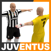 3d football player - juventus