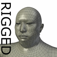 RIGGED Obese Asian Man Base Mesh
