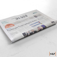 3ds max newspaper il sole