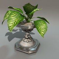 3d leaf plant stand