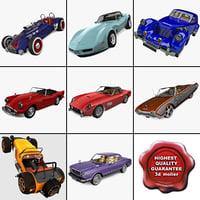 3d model retro cars 19