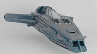 fighter spaceship 3d model