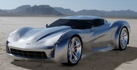 stingray corvette concept car 3d max