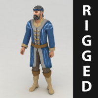 Lowpoly rigged worker model