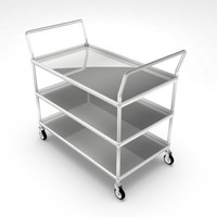 metal hospital cart 3d obj