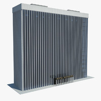 3d model of skyscraper hotel