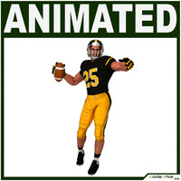 3d model team player american football