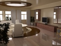 living room interior 3d 3ds