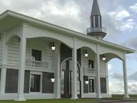 3d model mosque cami building