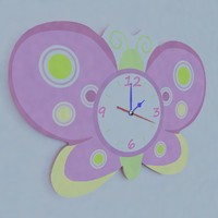 Wall Clock Kids Butterfly